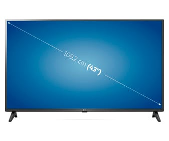 """Televisión 109,22 cm (43"""") LED LG 43UP75006 4K, HDR 10, SMART TV, WIFI, BLUETOOTH, TDT T2, USB reproductor, 2HDMI, 1600HZ."""