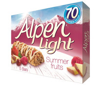 Cereales en barrita ALPEN LIGHT barrita de 19 gramos pack de 5 unidades