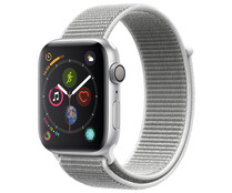 Smartwatch APPLE Watch Series 4 MU6C2TY/A, GPS, caja de aluminio de 44mm., plata con correa deportiva Loop Nácar.