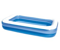 Piscina rectangular hinchable familiar, con medidas 260x175x51 cm y capacidad de 2275l. BESTWAY.