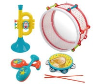 Conjunto de Trompeta, Tambor y Maracas ONE TWO FUN.