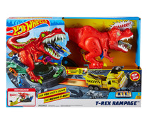 Conjunto de pista T-Rex Rampage,compatible con otros conjuntos de Hot Wheels City. HOT WHEELS