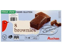 Brownies sin gluten PRODUCTO ALCAMPO 8 uds. 240 g.