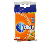 Chicles sabor a naranja ORBIT paquete 4 barritas. 56 g.