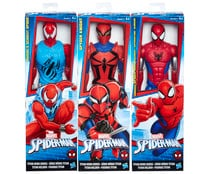 Figura articulada de 30 centímetros de altura Spiderman Titan Web Warriors, MARVEL.