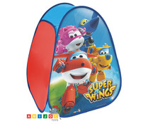 Tienda india infantil automontable, diseño en tonos azules SUPER WINGS.