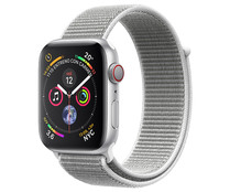 Smartwatch  APPLE Watch Series 4 MTVC2TY/A, GPS + Cellular, caja de aluminio de 40mm., plata con correa deportiva Loop nácar.