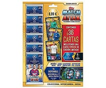 Multipack champions league con 6 sobres 36 cartas, TOPPS.