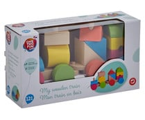 Tren con cubos de madera apilables Baby ONE TWO FUN.