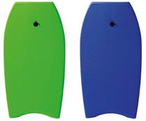 Tabla de body board de goma Eva, 94cm., color verde o azul, RYDER.
