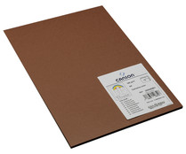 Pack de 15 hojas cartulina, color chocolate, DIN-A4, 185g/m2 CANSON.