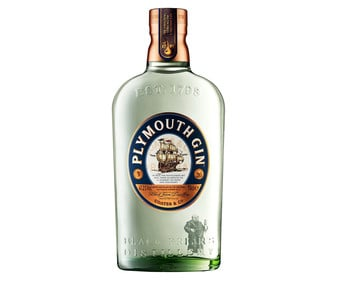 Ginebra inglesa tipo London dry PLYMOUTH GIN botella de 70 cl.