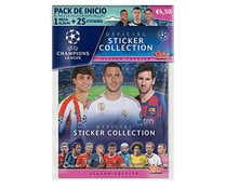 Mega album + 25 cartas de la champions league, TOPPS.