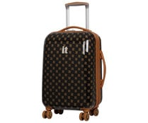 Maleta rígida con 8 ruedas, expandible, color marrón, 55cm ITLUGGAGE.