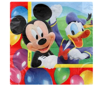 Servilletas de papel 33x33cm MICKEY Party 20 uds.