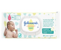 Toallitas húmedas para bebé, sin alcohol, sin colorantes y sin sulfatos JOHNSON´S Cotton touch 56 uds.