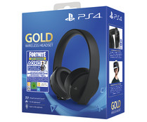 Auriulares gaming inalámbricos y con micrófono para Ps4 mas contenido descargable de Fortnite, Gold Wireless Headset SONY.