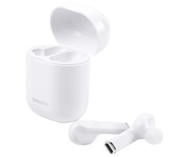 Auriculares bluetooth tipo intrauditivo SELECLINE micrófono, color blanco.