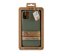 Funda compatible con Apple iPhone 11 Pro Max MUVIT for changebambootek moss. (Teléfono no incluido)
