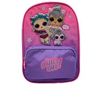 Mochila infantil con 2 compartimentos, color rosa, L.O.L. SURPRISE!.