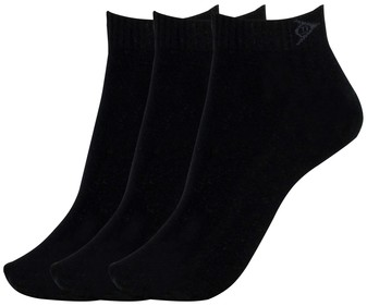 Pack de 3 pares de calcetines DUNLOP Performance, color negro, talla 39/42.