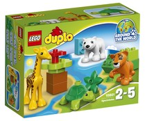 Construcciones 13 piezas Animales bebé, incluye 4 animales Around the World Duplo 10801 LEGO.