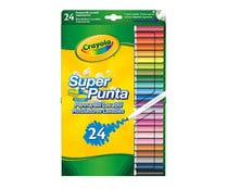 Pack de 24 rotuladores de colores lavables, CRAYOLA.