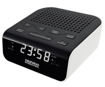 Radio reloj despertador DAEWOO DCR-46W digital, con sintonizador de radio AM/FM, alarma, display.