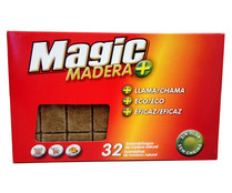Pastillas de encendido de madera, 32u, MAGIC.